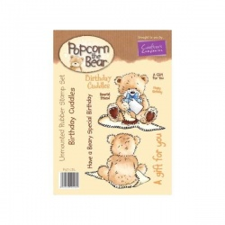 Popcorn the Bear Birthday Collection Birthday Cuddles Stamp Set