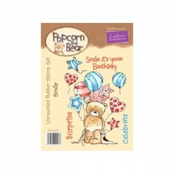 Popcorn the Bear Birthday Collection - Smile Stamp Set