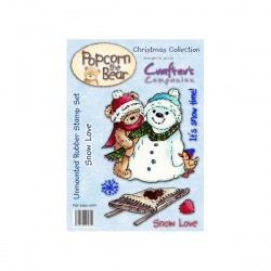 Popcorn the Bear Christmas Collection - Snow Love Stamp Set