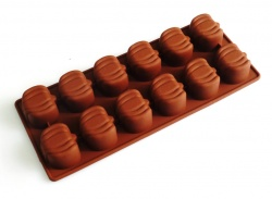 12 cell Pumpkins - Halloween Seasonal Silicone Chocolate Mould