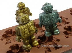 8 cell BROWN Chocolate / Candy Robot Silicone Mould