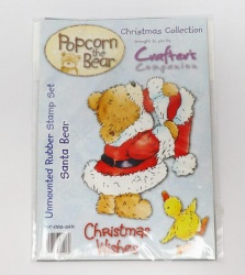 Popcorn the Bear Christmas Collection Santa Bear Stamp Set