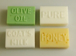 8 cell MARKED Rectangular Bar Soap Mould - Olive Oil / Goats Milk / Honey / Pure - **CLEARANCE**