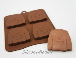 4 cell Ugly Christmas Jumper - Novelty Silicone Chocolate Mould