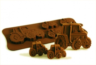 4+1 Tractor Chocolate Collection Silicone Baking Mould
